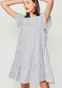 Twirl Into Fall Stripe Dress