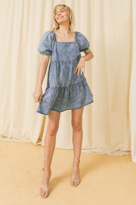 Charlotte Chambray Babydoll Dress