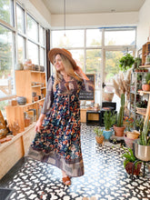Load image into Gallery viewer, Fall Floral Maxi Dress
