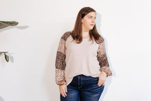 Load image into Gallery viewer, Femme Leopard Sleeve Top