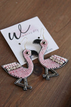 Load image into Gallery viewer, Pink Flamingo Earrings