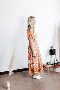 Spiced Floral Maxi Dress