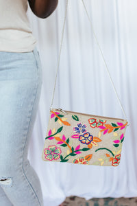 Treasure Jewels Floral Beaded Handbag