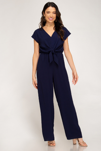 Gameday Tie Front Jumpsuit