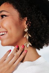 Gold Leaf Statement Earrings