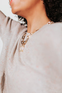 Lock Chain Statement Necklace