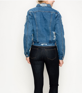 Gigi Distressed Denim Jacket