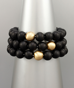 Stella Wood Bead Bracelet Set