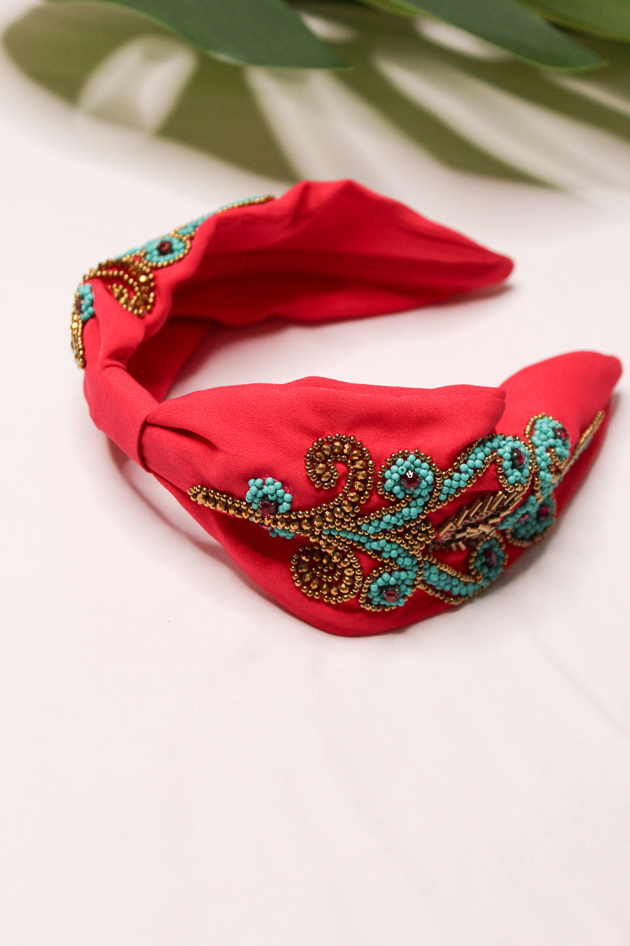 Treasure Jewels Hot Pink Beaded Headband
