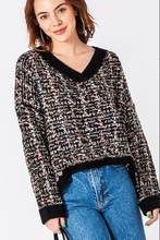 Load image into Gallery viewer, Audrey Tweed Knit Sweater