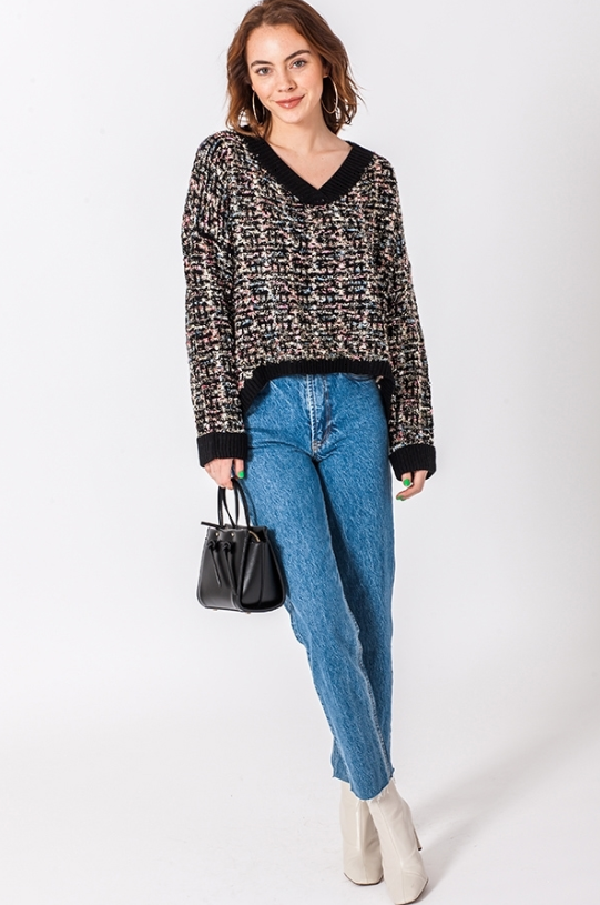 Audrey Tweed Knit Sweater