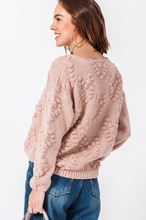 Load image into Gallery viewer, Heart Pom Pom Sweater