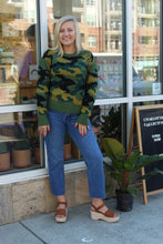 Load image into Gallery viewer, Candace Camo Jacquard Knit Sweater
