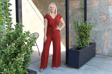 Load image into Gallery viewer, Gameday Tie Front Jumpsuit