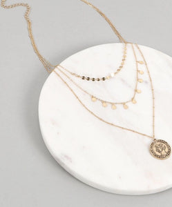 Coined Coffee Lover Layer Necklace