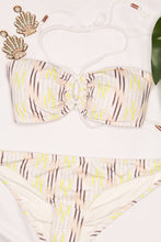 Load image into Gallery viewer, Boho Stripe Ivory Bikini Top