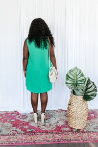 City Chic Kelly Green Shift Dress