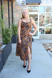 Morning Toast Animal Print Dress
