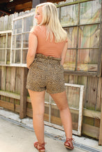 Load image into Gallery viewer, Leopard Print Paperbag Shorts