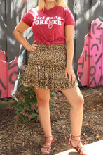 Load image into Gallery viewer, Purr-fect Leopard Skater Skirt