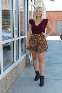 Like Yesterday Leopard Skort