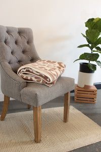 Taupe Animal Print Blanket