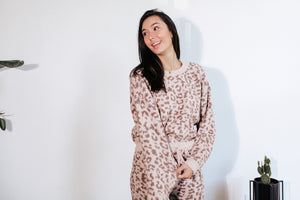 Leopard Teddy Lounge Sweater