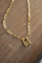 Load image into Gallery viewer, Lock Paperclip Chain Necklace