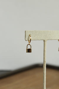 Lock Huggie Hoop Earrings