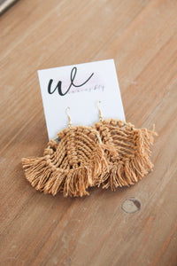 Round Macrame Earrings