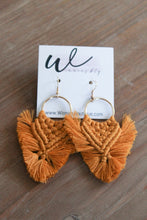 Load image into Gallery viewer, Fringe Macrame Earrings