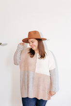 Load image into Gallery viewer, Valley Mauve Color Block Sweater