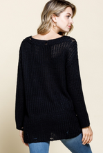 Load image into Gallery viewer, Anytime Distressed Sweater