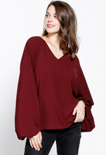 Load image into Gallery viewer, Kelly Bubble Sleeve Blouse
