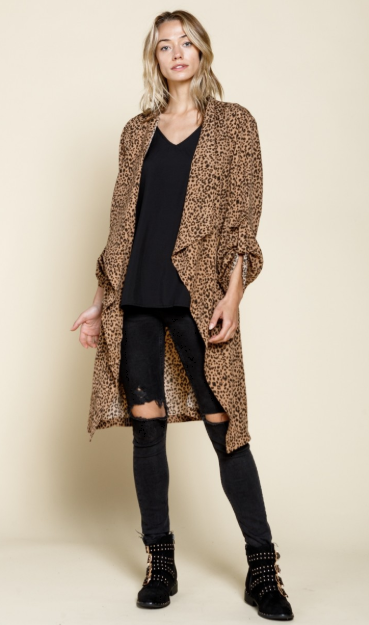 Leopard Duster Jacket