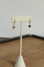 Load image into Gallery viewer, North Star Huggie Hoop Earrings