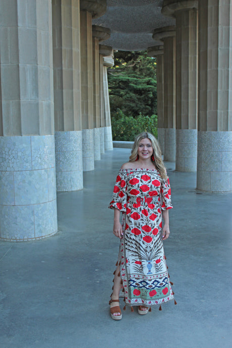 Spanish Rose Maxi Dress
