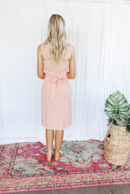 Load image into Gallery viewer, Summer Peach Button Front Midi Dress