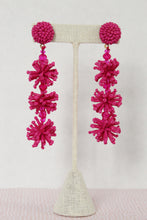 Load image into Gallery viewer, Pom Pom Beaded Statement Earrings