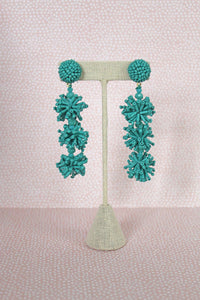 Pom Pom Beaded Statement Earrings