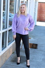 Load image into Gallery viewer, Lovely Lilac Textured Sweater