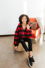 Load image into Gallery viewer, Buffalo Plaid Teddy Jacket