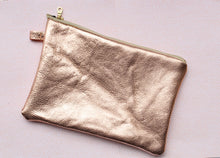 Load image into Gallery viewer, Leather Zipper Pouch Wrist-let