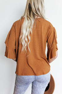 Pumpkin Spice Ruffle Top