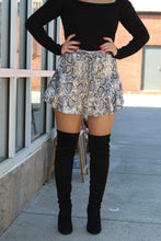 Load image into Gallery viewer, Like Yesterday Snake Print Skort