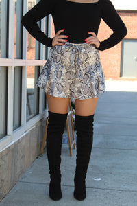 Like Yesterday Snake Print Skort