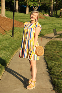Twirl Striped Shift Dress