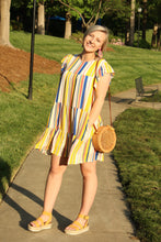 Load image into Gallery viewer, Twirl Striped Shift Dress