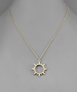 Sunburst Pave Necklace