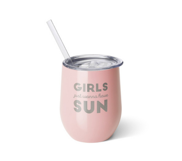 Girls & Sun Swig Insulated Stemless Wine Cup
